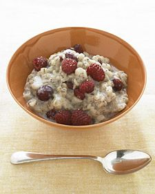 Look for omega-3-rich flax meal alongside the flaxseeds in your natural-foods store -- or grind your own. Once opened, store flax in the refrigerator. Since milk contains saturated fat, we chose to cook the high-fiber barley with almond milk instead.   Per serving; 320 calories; 8 g protein; 5 g fat; 63 g carb; 10 g fiber.  See another cholesterol-lowering recipe