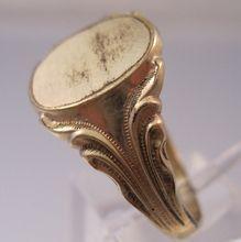 1910s UNCAS 12K GF Mens Signet Ring Size 11--$39