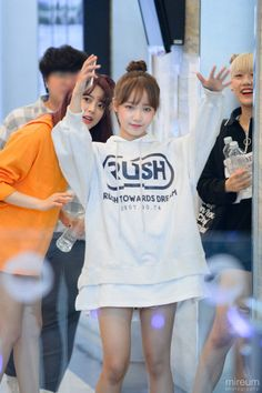 Kpop Girl Groups, Kpop Girls, Really Pretty Girl, Jung Chaeyeon, Choi Yoojung, Pre Debut, Kim Sejeong, Athletic Outfits, Athletic Clothes