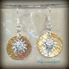 FUF 11/20: B.Accessorized Copper Dreams Disc Earrings with Sun charms from B'SueBoutiques.com