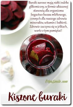 Pickled Beets, Polish Recipes, Polish Food, Just Cooking, Fermented Foods, Preserves, Salad Recipes, Food To Make, Veggies