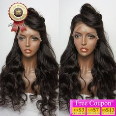 8A Brazilian Virgin Hair Lace Front Wig Body Wave Full Lace Human Hair Wigs For Black Women 130 Density Natural Color U Part Wig (32749187783)  SEE MORE  #SuperDeals