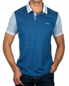 Polos HUGO BOSS ® Paddy - Azul Medio | ENVIO GRATIS Hugo Boss, Swag Outfits, Fashion Outfits, Polo Ralph Lauren, Camisa Polo, Boutique, Polo Shirt, T Shirt, Mens Clothing Styles