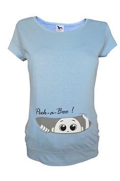 #Für #die #Schwangerschaft, #Größe #36-46, #Baumwolle, #Top #Print #Peek #a #boo…