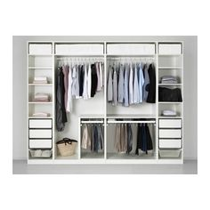 Discover the IKEA PAX wardrobe series. Design your own PAX wardrobe inside and out, from door styles, to shelves, to interior organizers and more. Pax Corner Wardrobe, Ikea Pax Wardrobe, Bedroom Wardrobe, Built In Wardrobe, White Wardrobe, Open Wardrobe, Ikea Wardrobe Storage, Ikea Pax Closet, Bedroom Closets