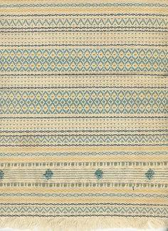 cotton | sett ~50 EPI | natural, blue, gold, black | unattributed