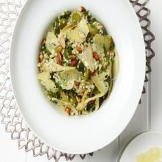 Farro, Artichoke, Lemon and Pecorino Romano Salad