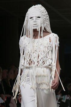 Knitwear Fashion, Knit Fashion, Chi Chi, Macrame Dress, London College Of Fashion, Body Adornment, Macrame Design, Future Fashion, Fabric Manipulation