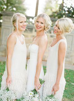 LANE Bridesmaids Inspiration would go perfectly with my Delphine Manivet Long Guipire Dress. All White Wedding, Ivory Wedding, Wedding Pics, Wedding Styles, Wedding Ideas, Wedding Stuff, Always A Bridesmaid, White Bridesmaid Dresses, Wedding Dresses