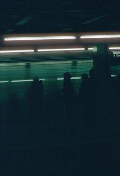 dark, night, subway, people, atmosphere