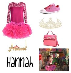 """Hannah from Scary Godmother Spooktacular"" by krusi611 ❤ liked on Polyvore featuring moda, Monsoon, Princess Carousel e Converse"