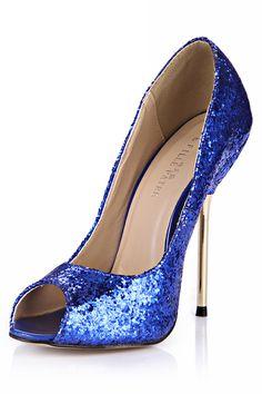 Sapatos de Salto Salto agulha Material do sequin Casuais Moda