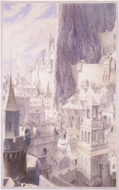 The Lord of the Rings - Alan Lee Art - The White City