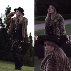 Get this look: http://lb.nu/look/8336281  More looks by Camilla Lins: http://lb.nu/camillalins  Items in this look:  Renner Fur   #bohemian #edgy #lace #leo #fauxfur #boho #hat