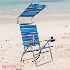 4 Position Beach Chair W Canopy Beachmall