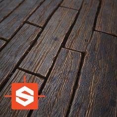 Stylized Wood – Procedural, Stefan Wacker on ArtStation at https://www.artstation.com/artwork/K2GRo