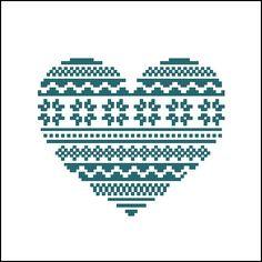 Digital item Ornamental Heart nordic scandinavian by LaMariaCha, $3.50