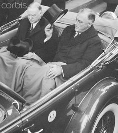 On the day of Franklin Delano Roosevelt's presidential inauguration, he rides with his predecessor Herbert Hoover to the ceremony. March 4, 1933 ((((★)))) First One. ♡❀❁❤❁❤❁❤❁❤❁❤❀♡  http://en.wikipedia.org/wiki/First_inauguration_of_Franklin_D._Roosevelt
