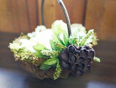 Rustic flower girl basket at https://www.etsy.com/listing/183914422/rustic-flower-girl-basket