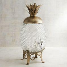 Pineapple Beverage Dispenser Gold