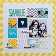 Bella Blvd Family Forever collection. Smile layout by DT member Kaye Rogers