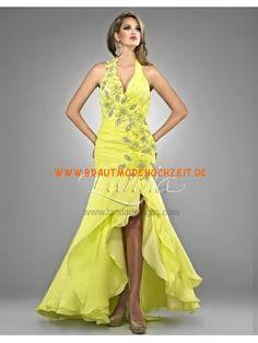 Traumhaftes Rückenfrei Abendkleid 2013 aus Satin mit Applik... V  Ausschnitt, Chiffon Kleid 1b00bc91a0