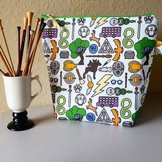 SewFlo's very first XL Project Bag made in a specialty fabric!  Go Harry Go Harry Go!  by shopsewflo