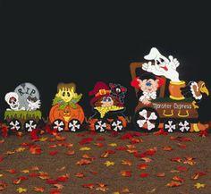 Halloween Monster Express Wood Train Lawn Ornament/Yard Art. $125.00, via Etsy.