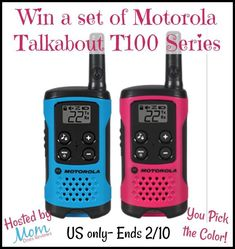 This giveaway is sponsored by Motorola Solutions and Hosted by Mom Does Reviews These look so cool! I love all the colors. Think about how much fun these would be to play with when it gets warmer outside. The reach is so far I can chat with my husband while he's at the baseball …