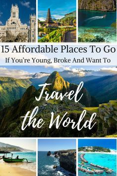 Here are some excellent places you must visit that won't break your pocket, #traveltheworld #travel #affordableplaces #affordabledestinations #budgetdestinations #budgetplaces #cheaptravel
