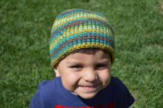 Boy sized crochet skull cap made with super bulky by keepongivin