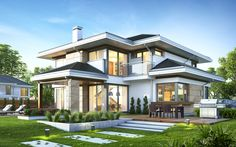 Everyone would like to have a home that will thrill every guest, visitor or accident passenger by your house. The home design and its facade we all need to be something special, because most. House Outside Design, House Front Design, Modern House Design, 2 Storey House Design, Bungalow House Design, Modern House Facades, Modern House Plans, Villa Design, Design Hotel