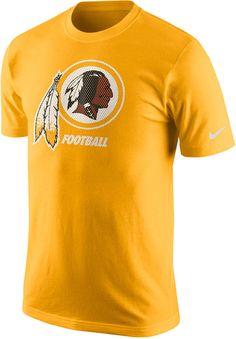 With this Nike NFL Facility t-shirt you can wear the same weight room look as your favorite players. This tee features the Washington Redskins logo at front, giving you a casual, stylish way to support your favorite team. Ribbed crew neckline with interior taping Short sleeves Screen print team logo at front Nike swoosh logo at left sleeve Regular fit Tagless Cotton Machine washable