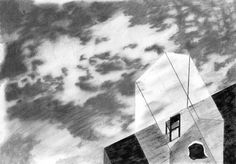 The man who disappeared in the clouds. Excerpt from The Art of Hiding, an ongoing visual exploration on the poetic nature of intimate space, through the narrative medium of picture-book illustration. Eleni Debo