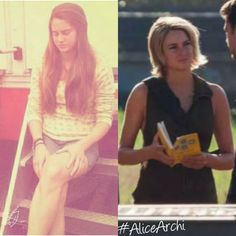 Shailene Woodley on set 2013 and 2015