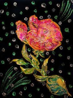 Golden Purple Sparkling Rose Canvas Print / Canvas Art By Alex Art Dark Power, Purple Sparkle, Canvas Art Prints, Red Roses, Fine Art America, My Arts, Wall Art, Artwork, Painting