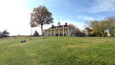 George Washington's Mount Vernon Estate, Museum & Gardens in Mount Vernon, VA Greek Revival Architecture, Potomac River, Royal Garden, Plantation Homes, Mount Vernon, Neoclassical, George Washington, Denial, Historical Sites