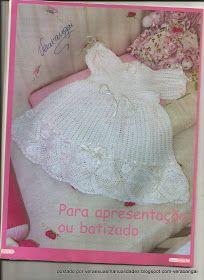 As Receitas de Crochê: Vestido de batizado em crochê