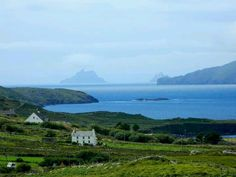 Scenery of Co. Kerry and Skellig Michael Island, where the monks built huts and lived there...