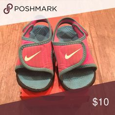 Babygirl Nike sandals Babygirl Nike sandals. Size 6 Nike Shoes Sandals & Flip Flops