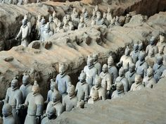 size: Photographic Print: The Terra-Cotta Army near the Tomb of China's First Emperor, Qin Shi Huang by O. Tulum, Places To Travel, Places To See, Terracotta Army, Qin Dynasty, Terracota, Ancient China, Ancient Artifacts, Ancient Mysteries