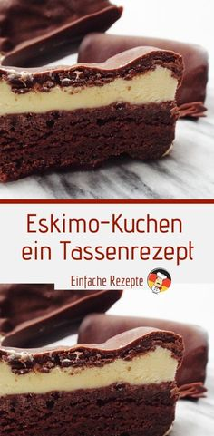 Eskimo cake - a cup recipe - Rezepte - Desserts Mini Desserts, Spring Desserts, Trifle Desserts, Lemon Desserts, Thanksgiving Desserts, Chocolate Desserts, Easy Desserts, Dessert Recipes, Cheesecake Recipes