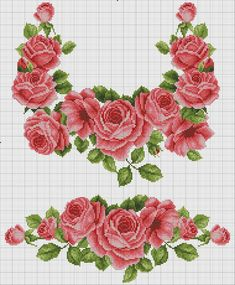 VK is the largest European social network with more than 100 million active users. Cross Stitch Rose, Cross Stitch Flowers, Cross Stitch Charts, Cross Stitch Designs, Cross Stitch Patterns, Cross Stitching, Cross Stitch Embroidery, Crochet Cross, Embroidery Designs