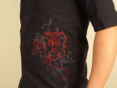OESD Machine Embroidery Designs - up-style men's pre-made shirt