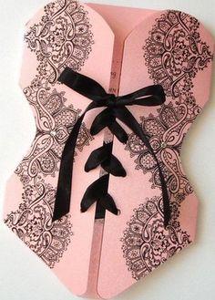 Convite luxuoso esse de chá de lingerie!  Vamos nos inspirar? contato@santodecasadesign.com