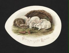 'Wishing you a joyful Eastertide...' Easter Card. 19th century