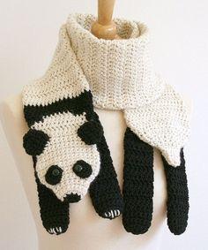 Cachecol Divertido em Crochê - Modelos de Animais