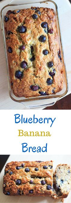 Blueberry banana bread - double the fruit and double the deliciousness! All the…