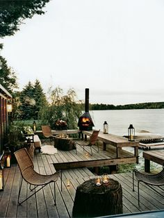 backyard living by the water
