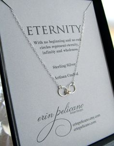 Eternity Necklace Infinity Necklace // Sterling Silver on Etsy, www.erinpelicano.etsy.com